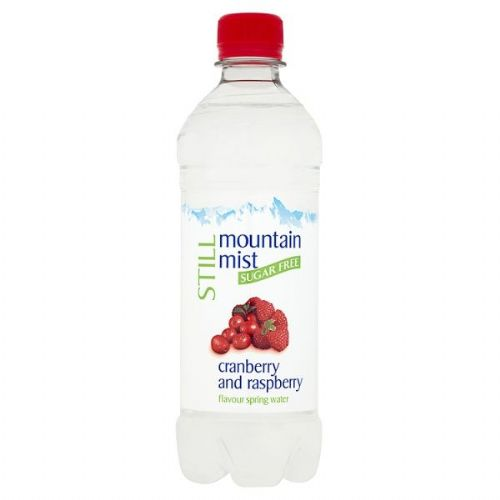 Mountain Mist Still Sugar Free Cranberry and Raspberry Flavour Spring Water 500ml